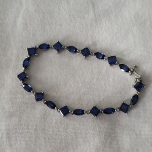 Sapphire bracelet.